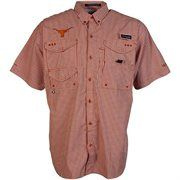 Columbia Texas Longhorns Gingham Super Bonehead Button-Down Shirt - Burnt Orange/White #Fanatics