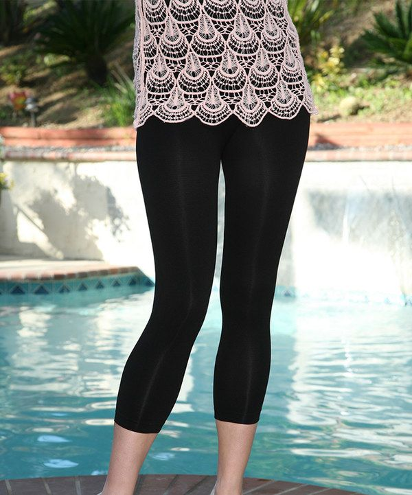 002bbecddcb07e Look at this Black Capri Leggings on #zulily today! | My Style ...