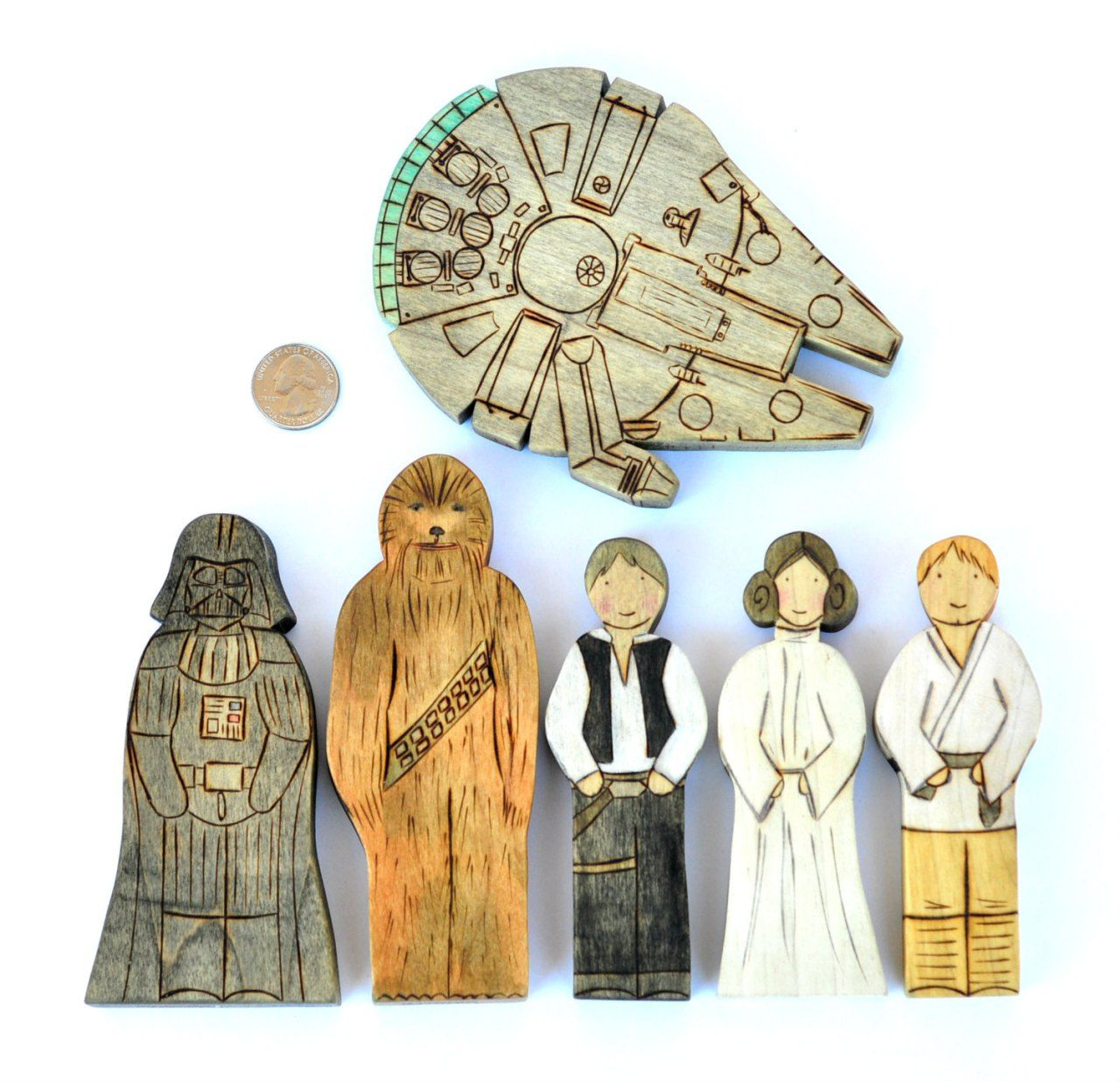 Star Wars Toy Set By Armadillo Dreams Star Wars Toys Toy Sets Wooden Stars