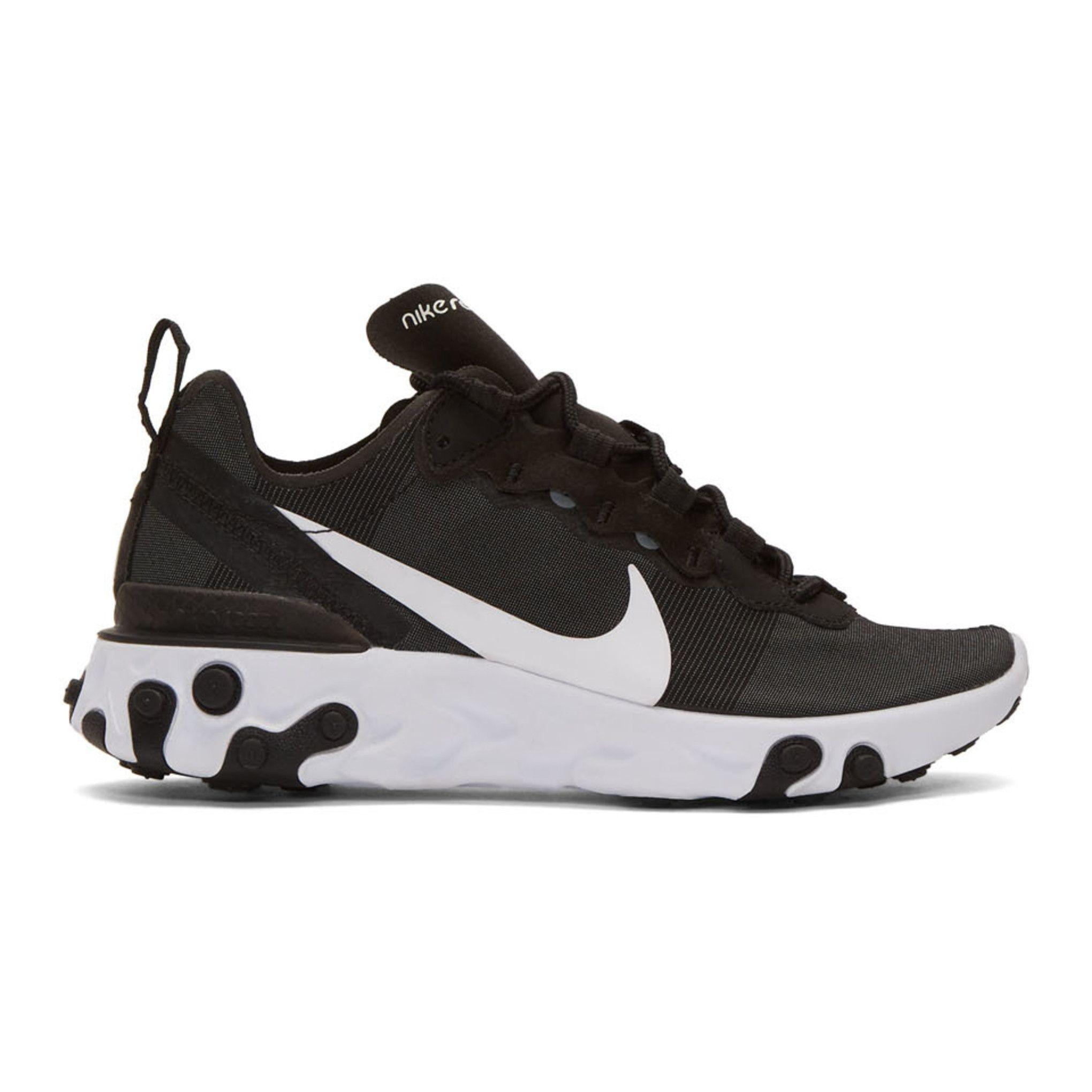 Nike Black React Element 55 Sneakers SSENSE Dior