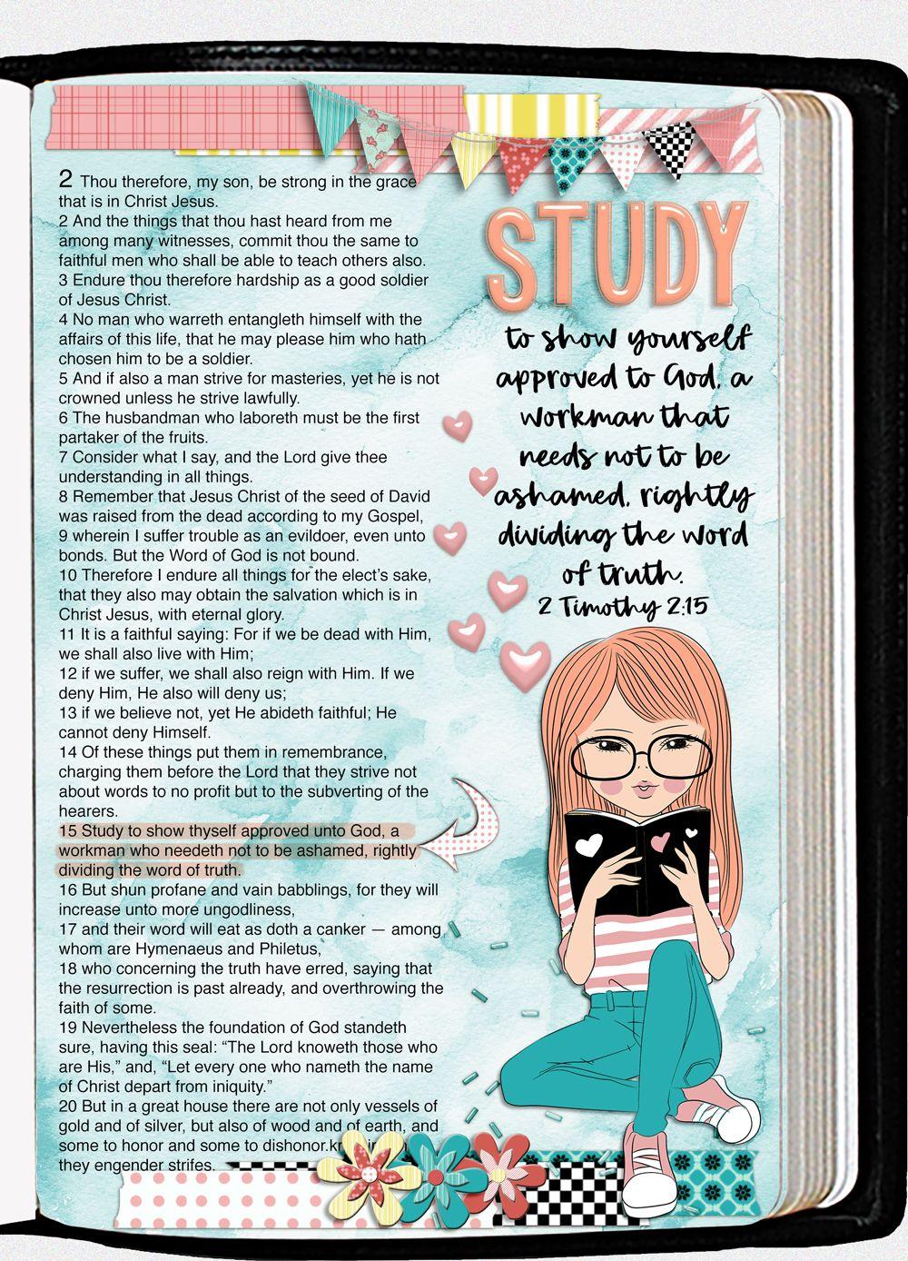 Bible Study Girl BOTH: Printable & Digital Bible Journal