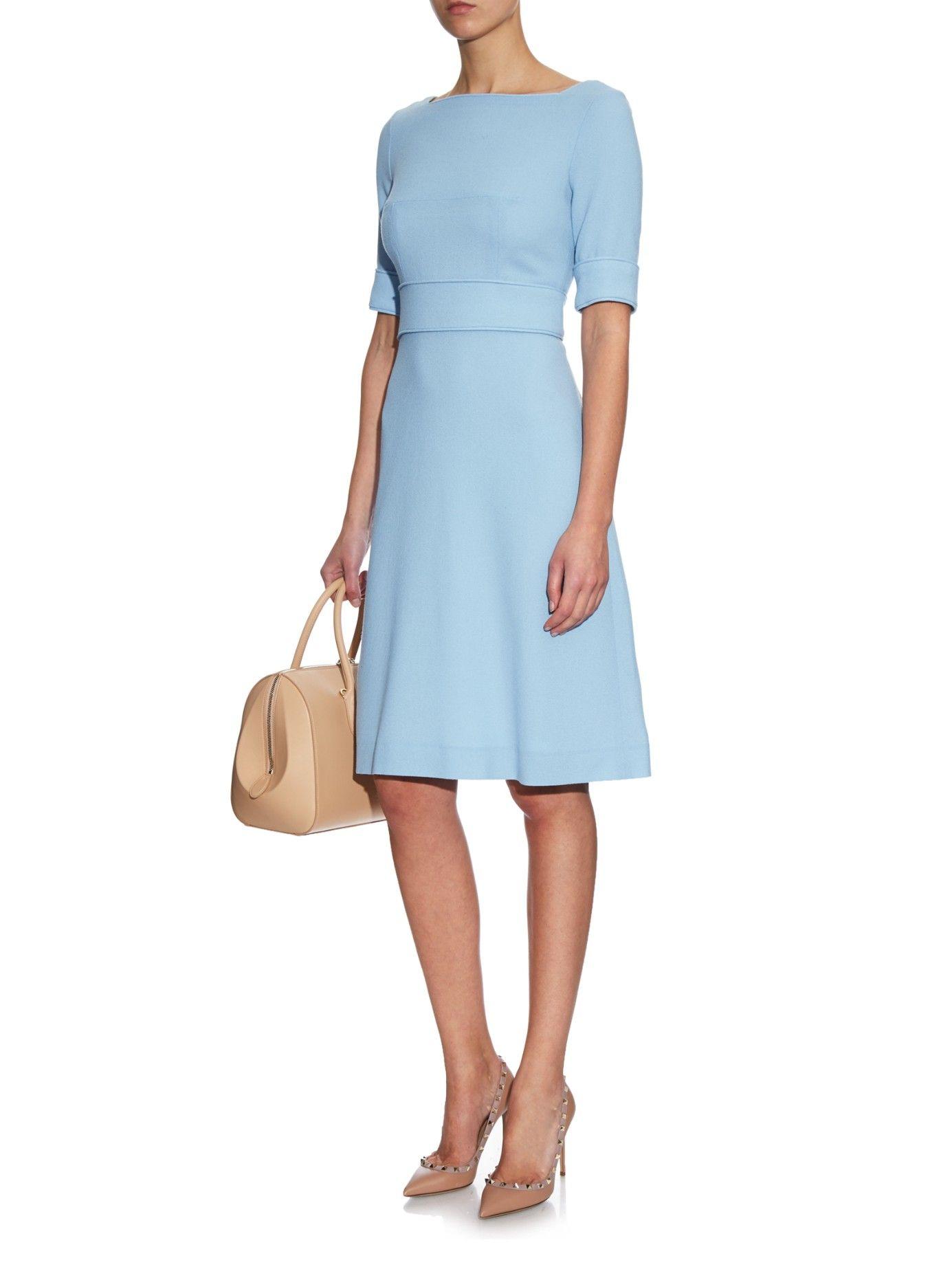 fc3b2db7441 Buy Goat Women s Blue Berkley Wool-crepe Dress