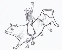 bull riding coloring pages bull riding coloring page free printable | Party Like Pecos  bull riding coloring pages
