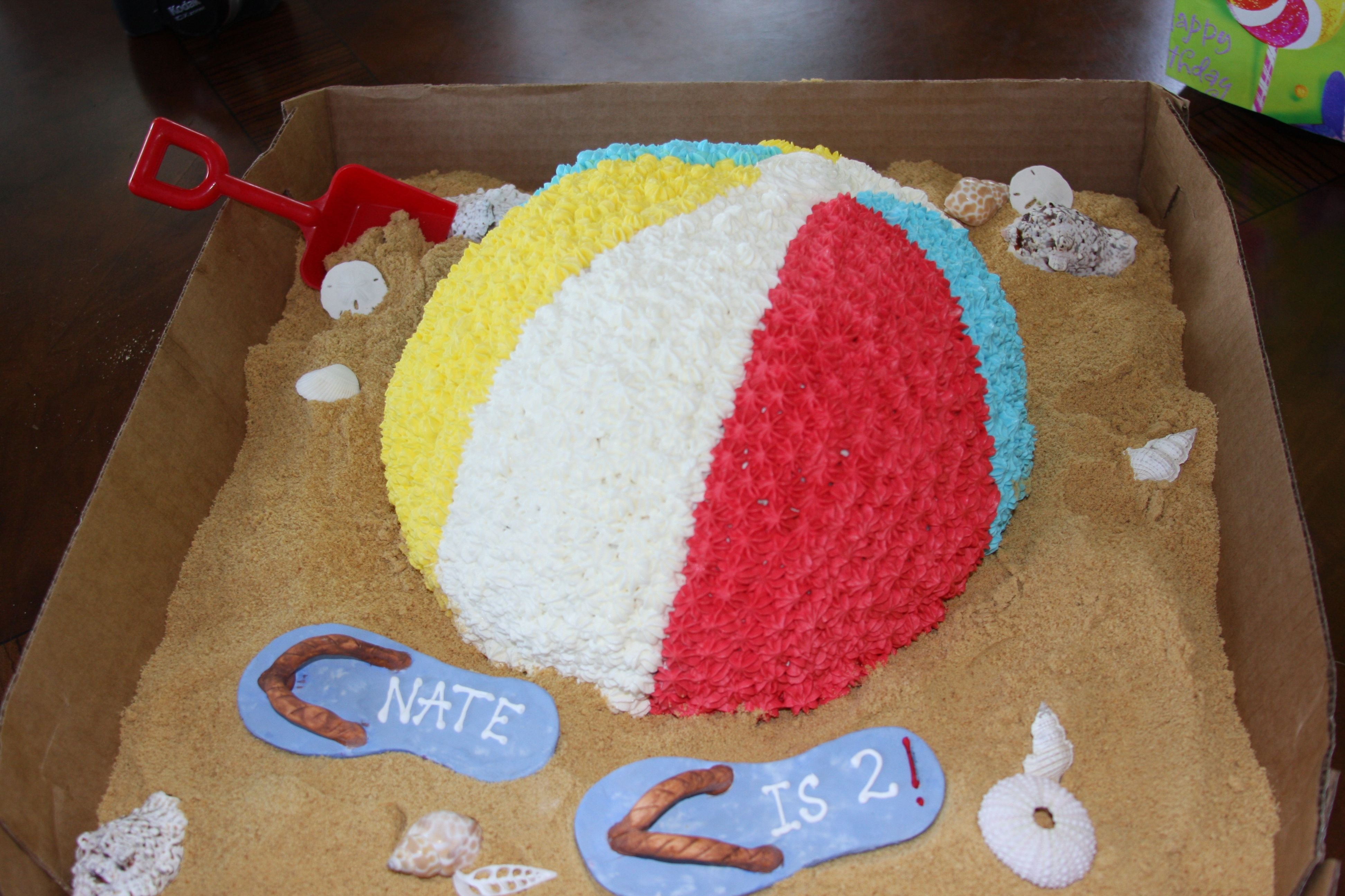 2yr Beach Ball Cake for Nate Cute tattoo Pinterest Beach ball