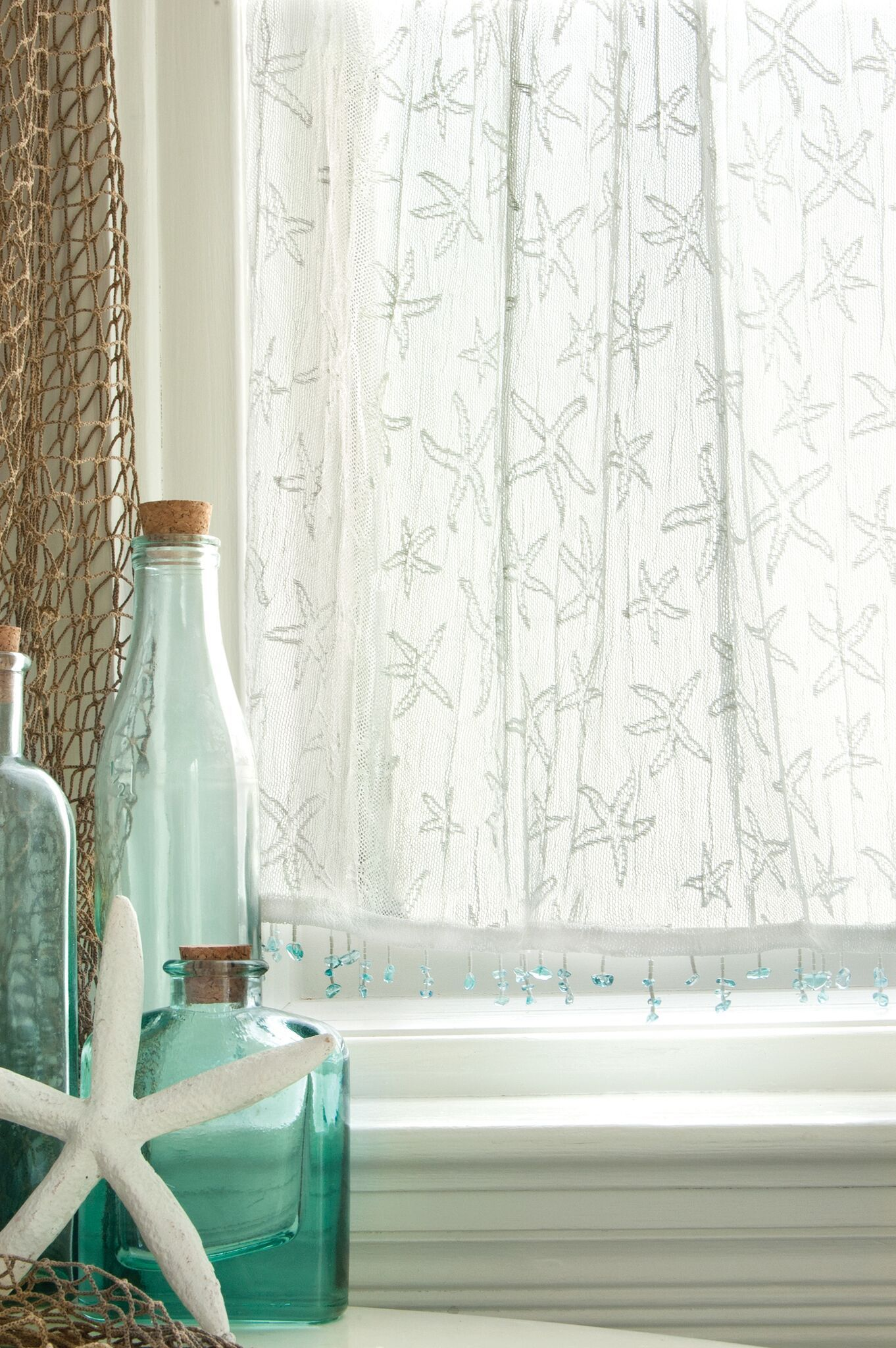Starfish Curtain Collection White Beach Cottage Style Beach
