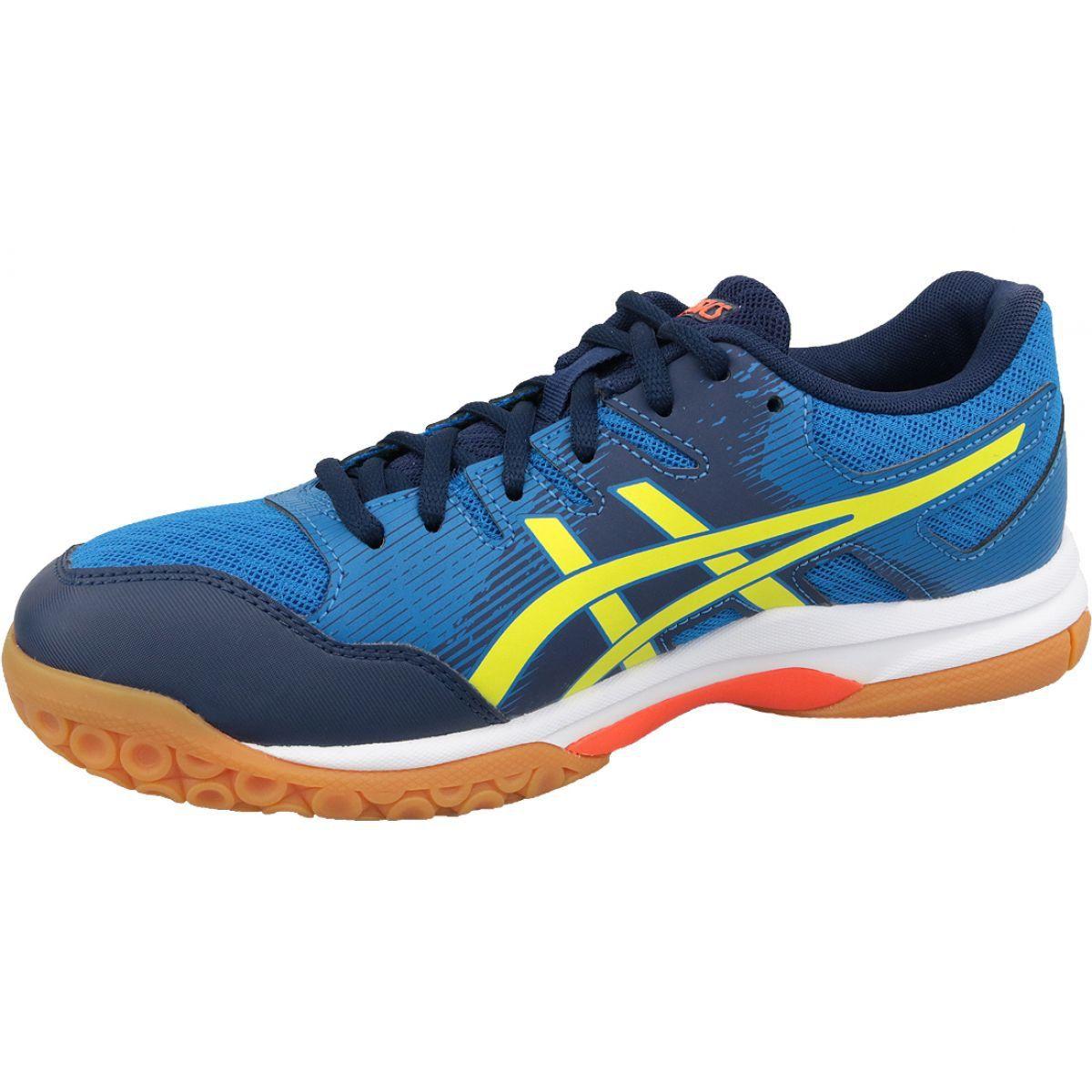 Buty Do Siatkowki Asics Gel Rocket 9 M 1071a030 400 Niebieskie Niebieskie Volleyball Shoes Blue Shoes Asics