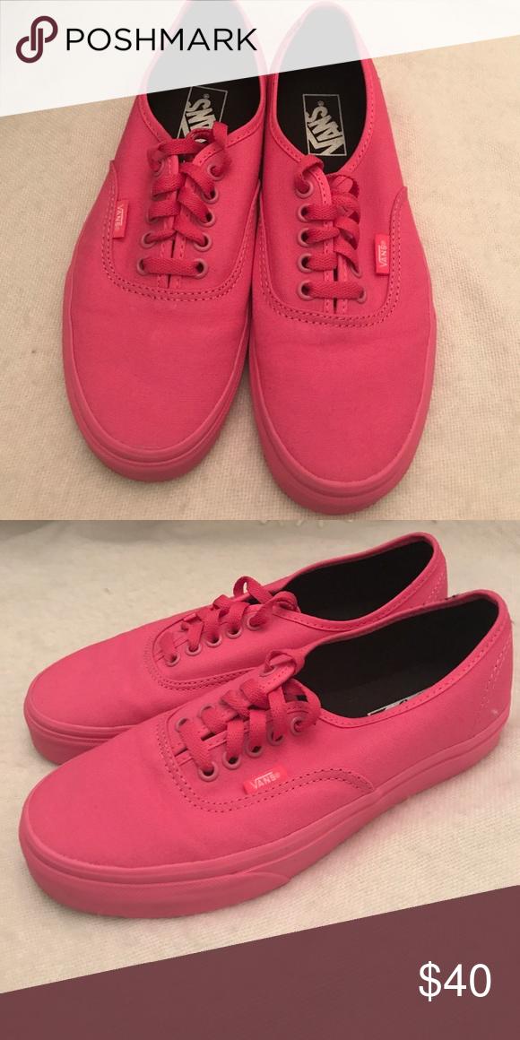 1b39d70aa4 Vans hot pink women s 8.5 Hot pink Vans NEVER WORN BRAND NEW women s size  8.5 Vans Shoes Sneakers