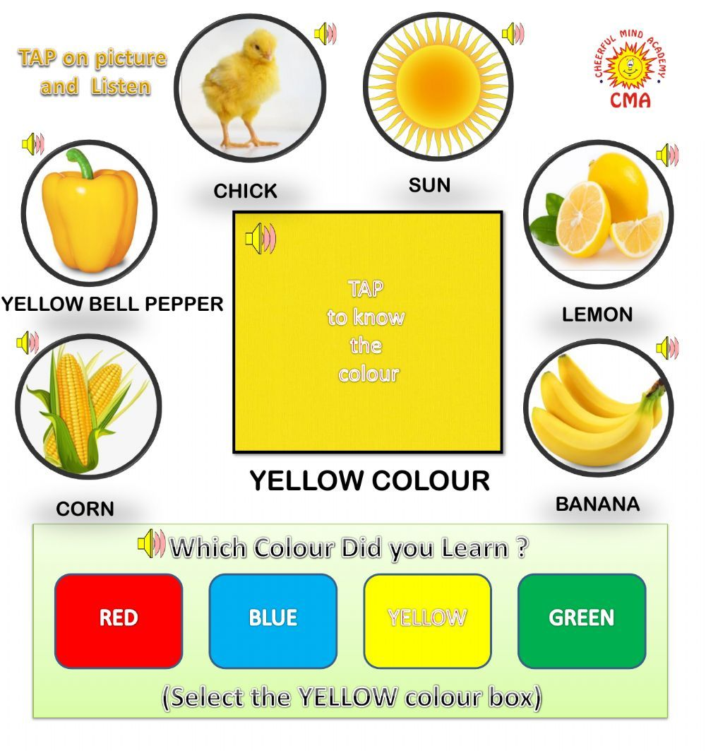 Listen And Learn Yellow Colour Interactive And Downloadable Worksheet You Can Do The Exercises Online Or Download T Yellow Color Color Worksheets Worksheets [ 1063 x 1000 Pixel ]