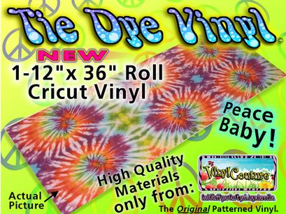 Tie Dye Crafting Vinyl For The Grooviest Projects Vinyl Crafts Patterned Vinyl Crafts