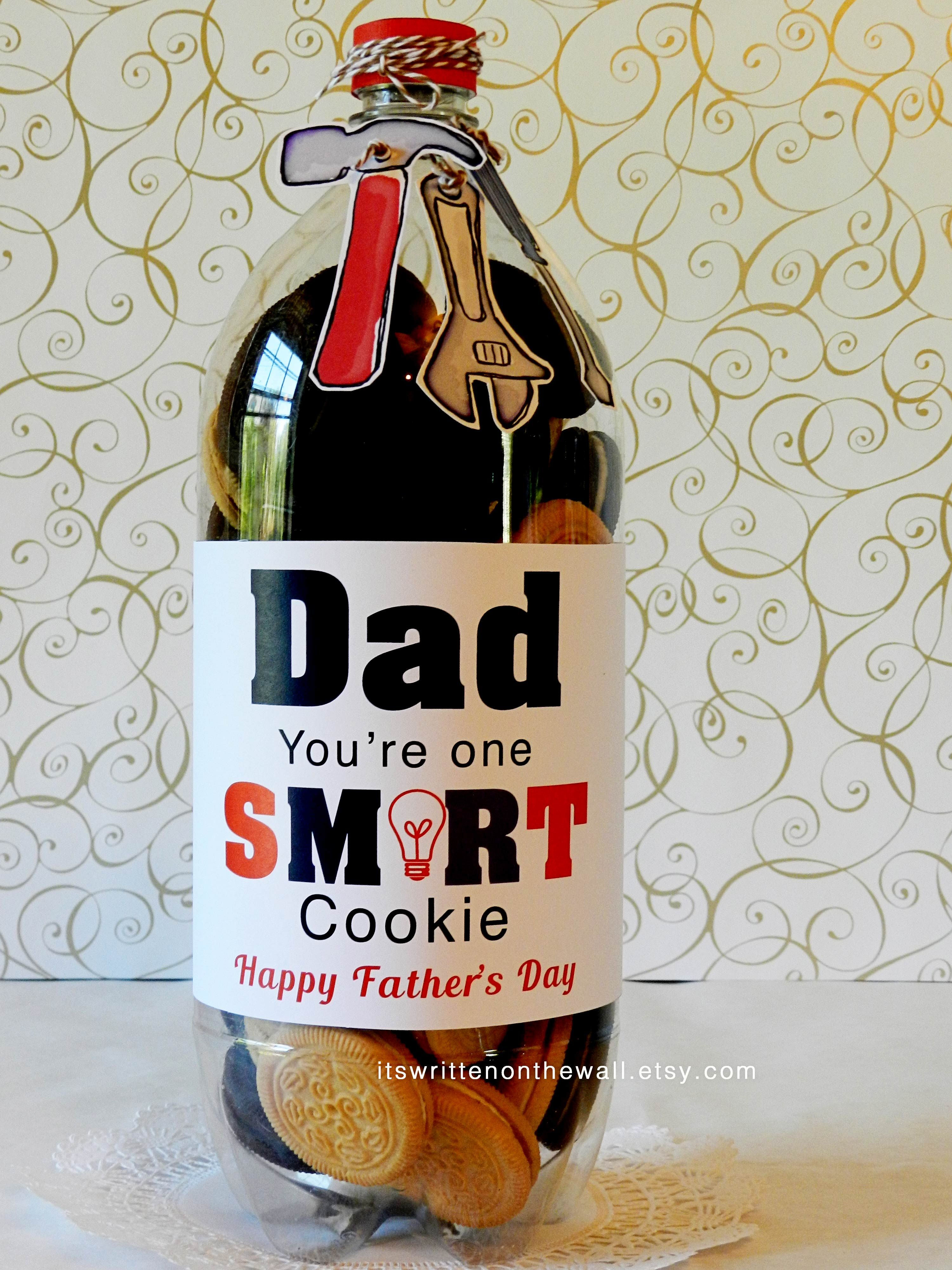 Fathers Day Gift Ideas Cookies For Dad, Label, Tag Dads