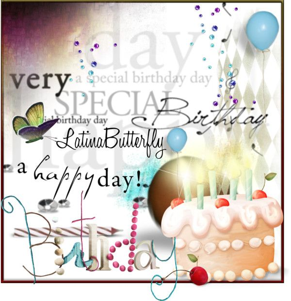 """Happy Birthday"" by latinabutterfly ❤ liked on Polyvore"