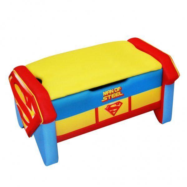 "Warner Brothers Superman Icon Toy Box (Multi) (16.5""H x 32""W x 19.5""D)"