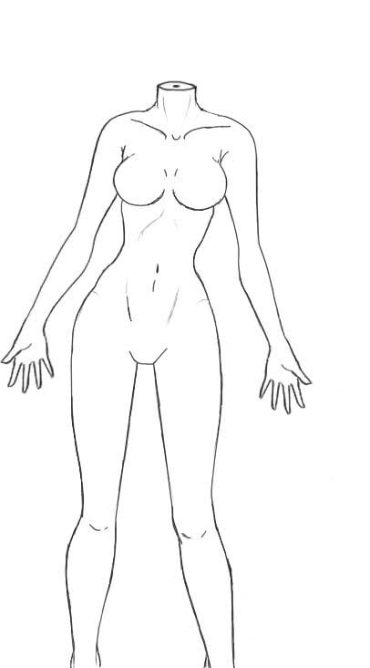 Click for a larger view A-mannequin drawing for fashion design - blank fashion design templates