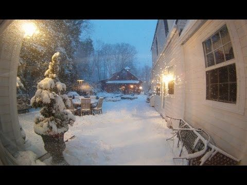 """Winter Storm Nemo Time lapse - 30"""" of snow in 38 seconds! (HD)"""