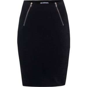 T BY ALEXANDER WANG Zip Straight Black // Pencil skirt with zipper ...