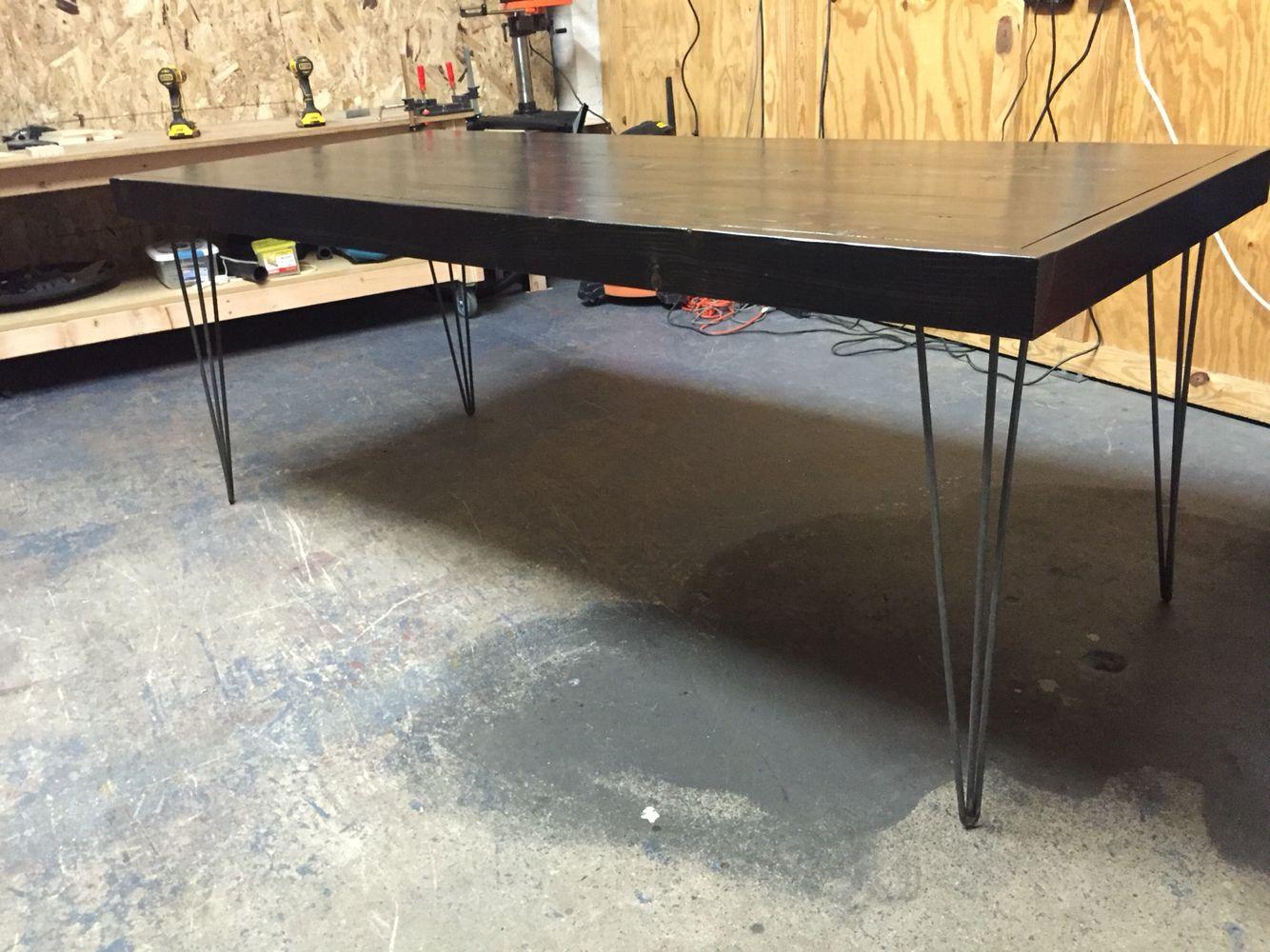 Hairpin leg dining table Hairpin leg dining