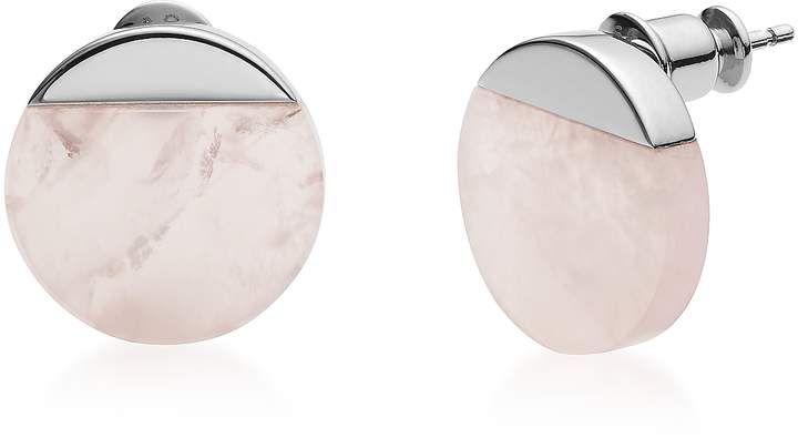 Skagen Ellen Rose Quartz Stud Earrings In 2019 Diamond