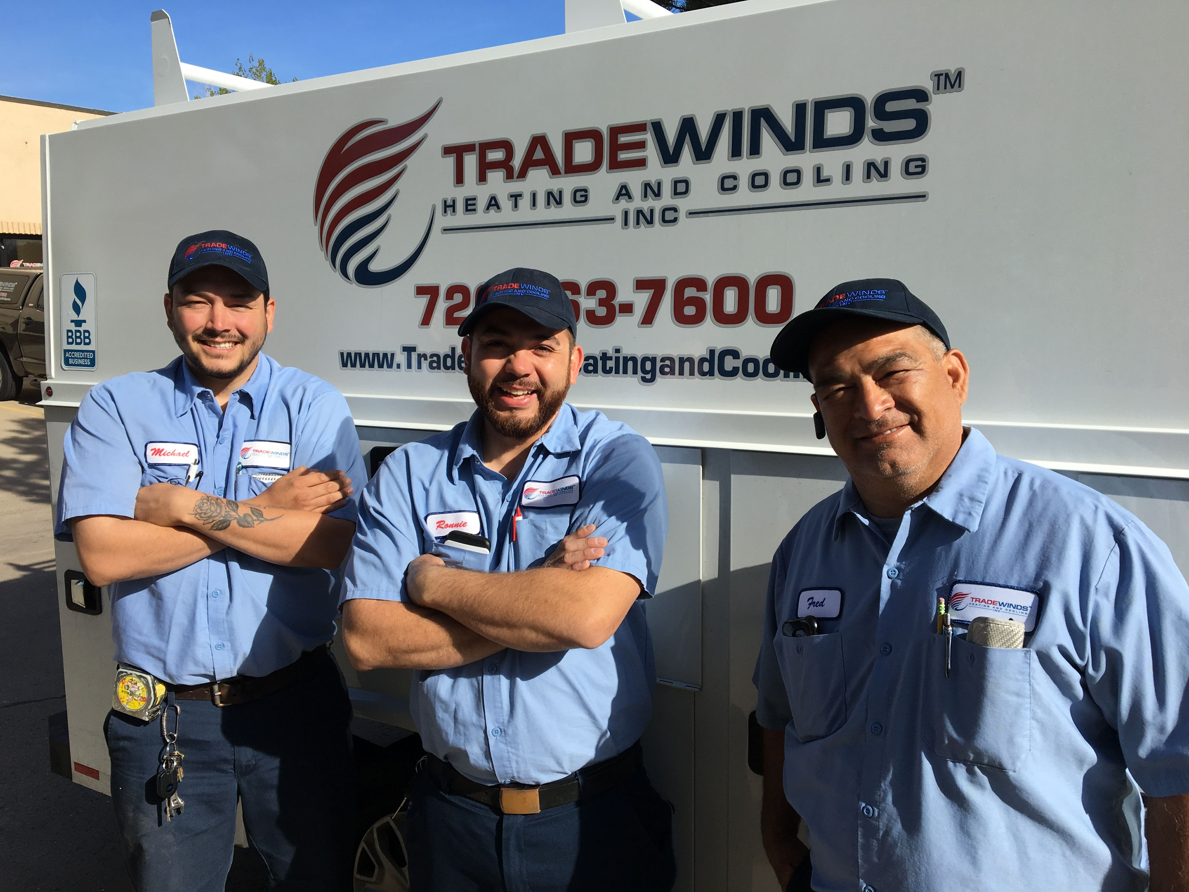 Tradewinds Heating and Cooling, Inc. Crew! Fred (Owner) on