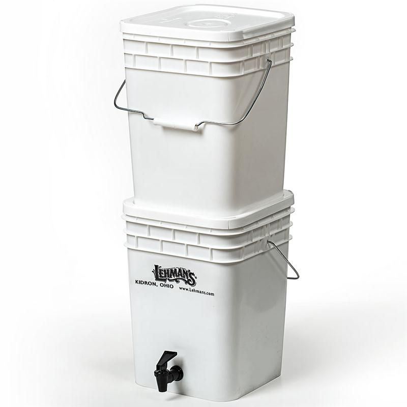 Great for power outages. Just fill up the bucket in the river out back.