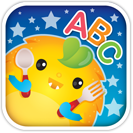 """App icon for """"Learn ABC; It's Munch Time"""" Learning abc"""