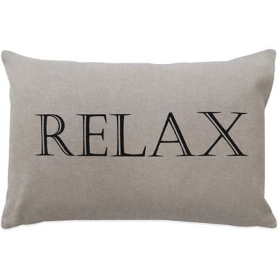 The Vintage House By Park B Smith Relax Oblong Throw Pillow Interesting Relax Decorative Pillow