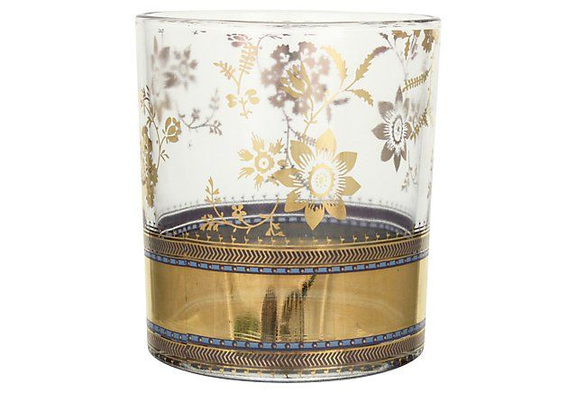 S/4 Metallic Lace Cocktail Glasses | Set the Scene | One Kings Lane
