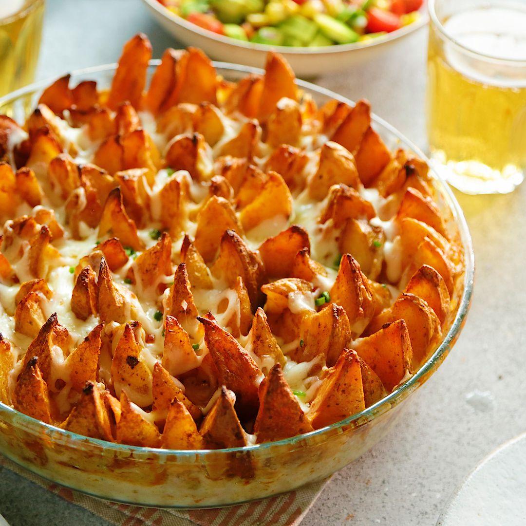 Potato Wedge Cheese Pie
