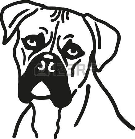 german boxer: boxer dog head | industrial logos | pinterest | dog