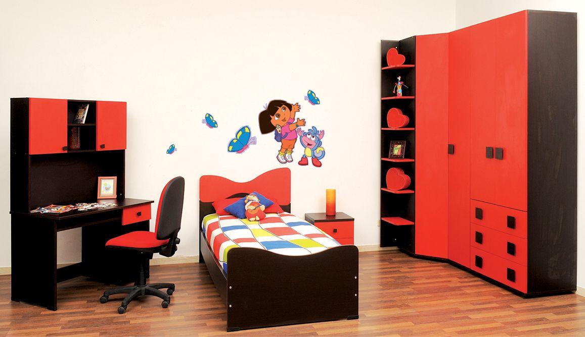 Mezghani Meubles Chambres Pour Enfants Chambre Papillon Rouge Home Decor Toddler Bed Decor