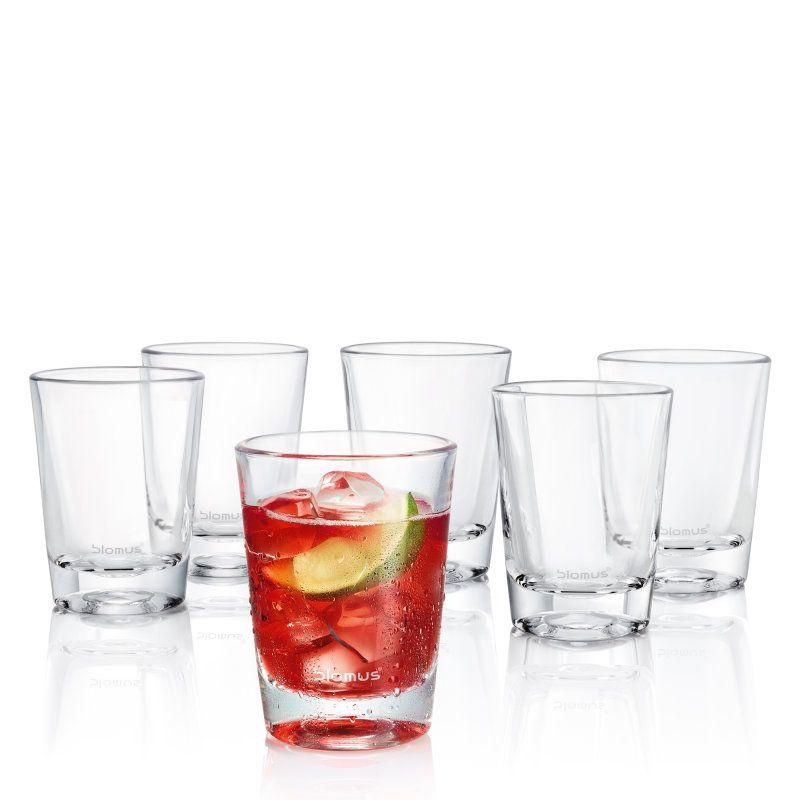 Blomus Wasserkaraffe set 6 teegläser glas blend accessory stainless steel