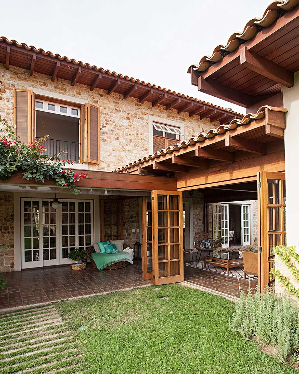 Casa de campo r stica em 2019 arquitetura casas de for Casa rustica classica