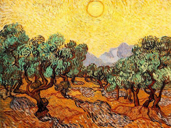 Oliveiras por Vincent van Gogh - foto de viagem por John Fotografia Brody / JohnBrody.com / John Brody - Clique para aumentar a imagem - Bio Resumo de Wikipedia