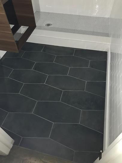 Jeffrey Court Castle Rock Gray 9 5 In X 19 25 In Matte Porcelain Hexagon Floor And Wall Tile 12 15 Hexagon Tile Bathroom Bathroom Floor Tiles Tile Bathroom