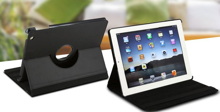 6 adjustable viewing angles plus 1 typing position, yes, you are right, this is the 360° Rotating Case for iPad2/3/4!  It's almost versatile! Doubt that? Then click to see! http://www.meikeda.com/dye-sublimation-printing-2/digital-peripheral-products/apple-series-cases1/item/360-rotating-case-for-ipad.html?category_id=144