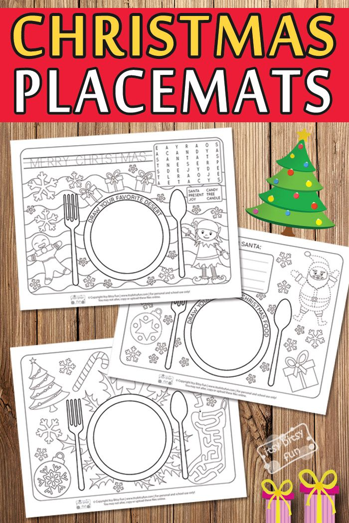 These Printable Christmas Themed Placemats Would Be So Fun To Add To Your Christmas Festiviti Free Christmas Printables Preschool Christmas Christmas Placemats
