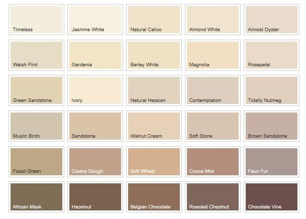 Cream colour chart google search hallway pinterest for Creamy neutral paint colors