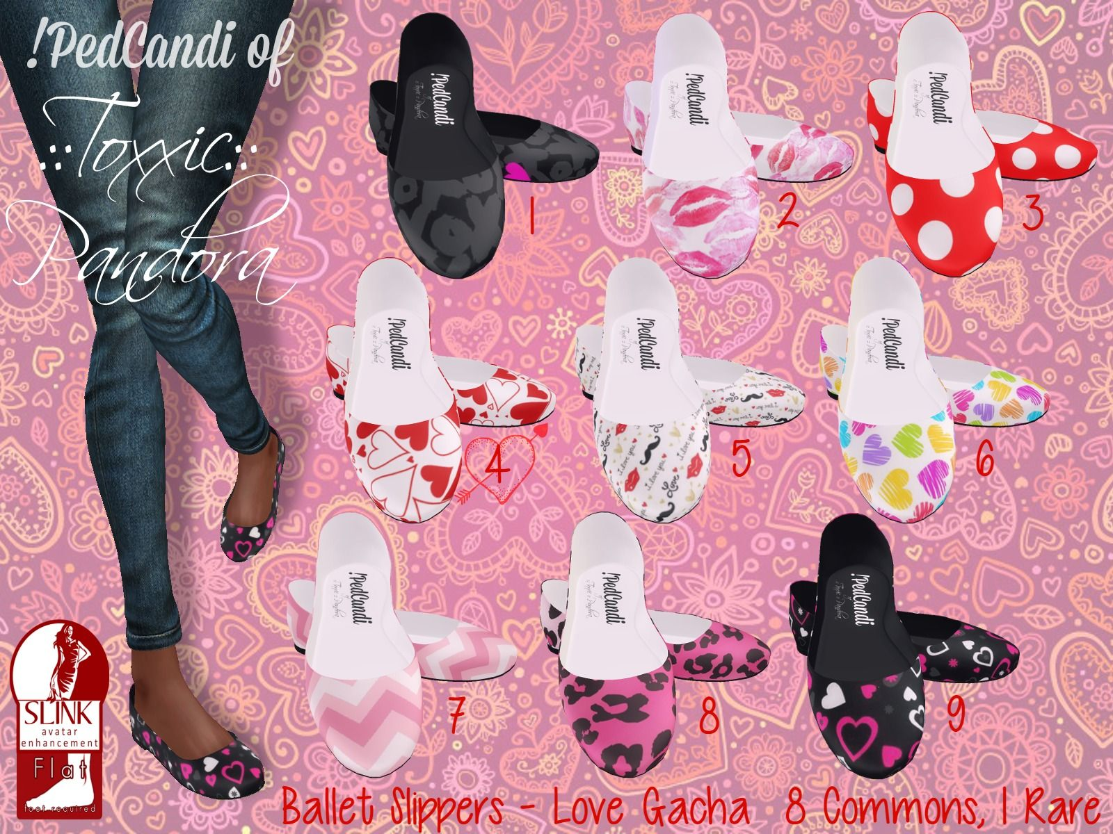 ::Toxxic:: Pandora Love Ballet Flats for Slink (will fit Belleza)