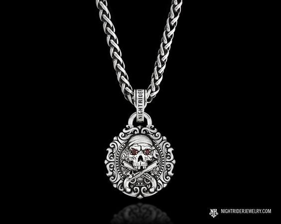 Nightrider jewelry old salt skull necklace pendant heavy 925 nightrider jewelry old salt skull necklace pendant heavy 925 sterling silver skull pirate mozeypictures Choice Image