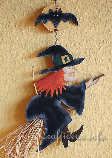Wooden Halloween Witch Wall DecorationBOO! Pinterest - witch decorations