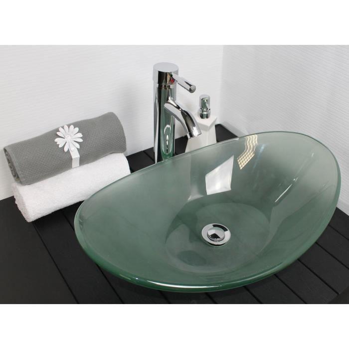 Vasque en verre Pirogue sable | Vasque en verre, Vasque et Lavabo