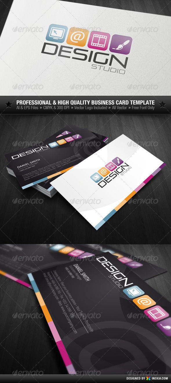 Design Studio Business Card Design Business Design Business Cards