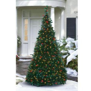 Pre Lit Pull Up Christmas Tree Clear By Brookstone 129 99 Multi Toned Branches For Added Visu Pull Up Christmas Tree Christmas Tree Lighting Christmas Tree