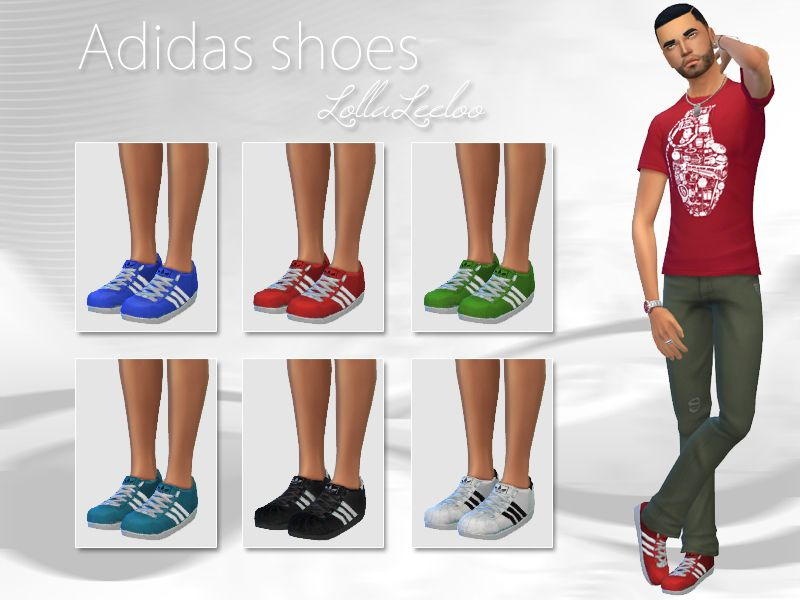 As requested, I've converted the Adidas sneakers for Sims guys. Found in