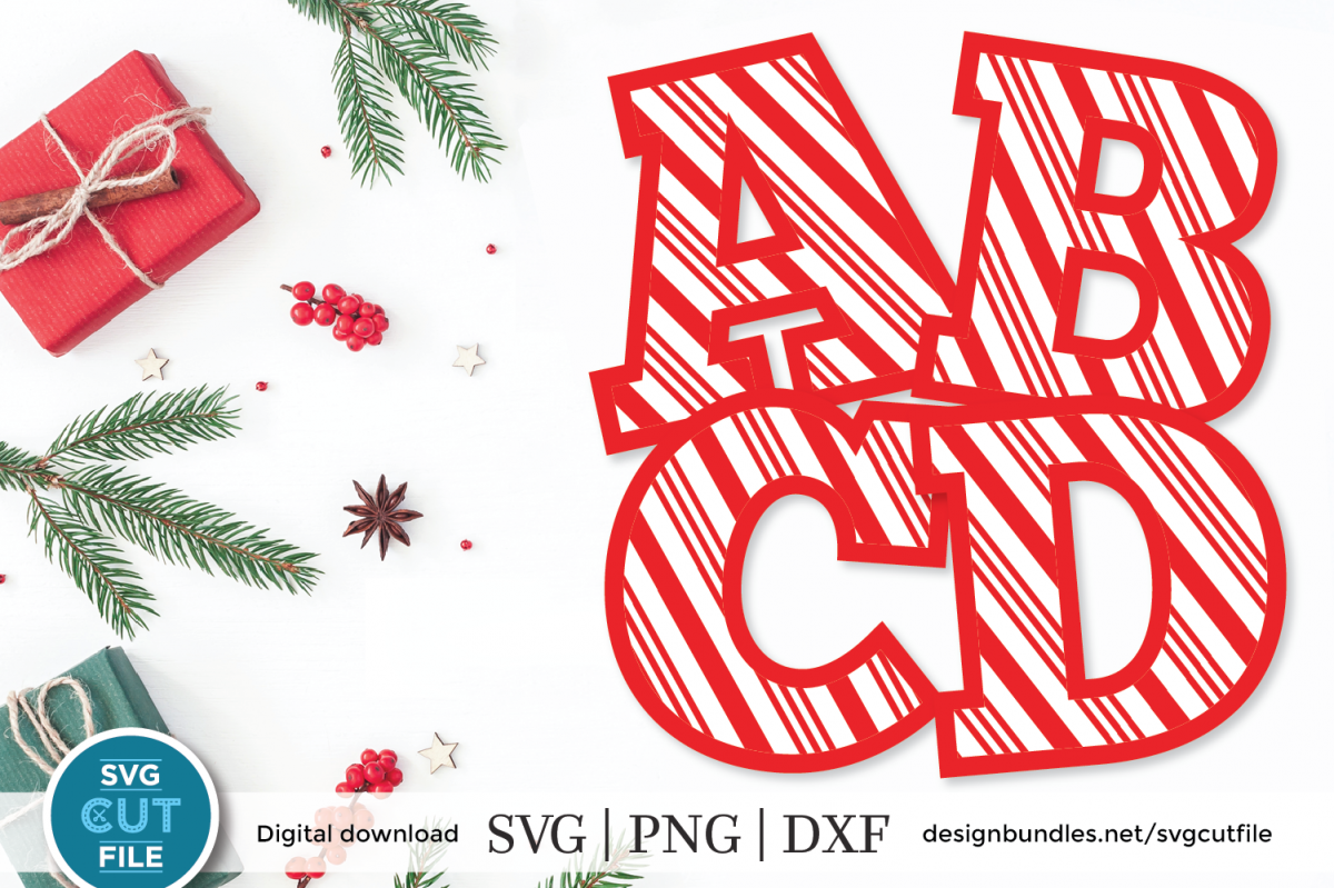 Candy Cane font, candy cane letters otf, christmas