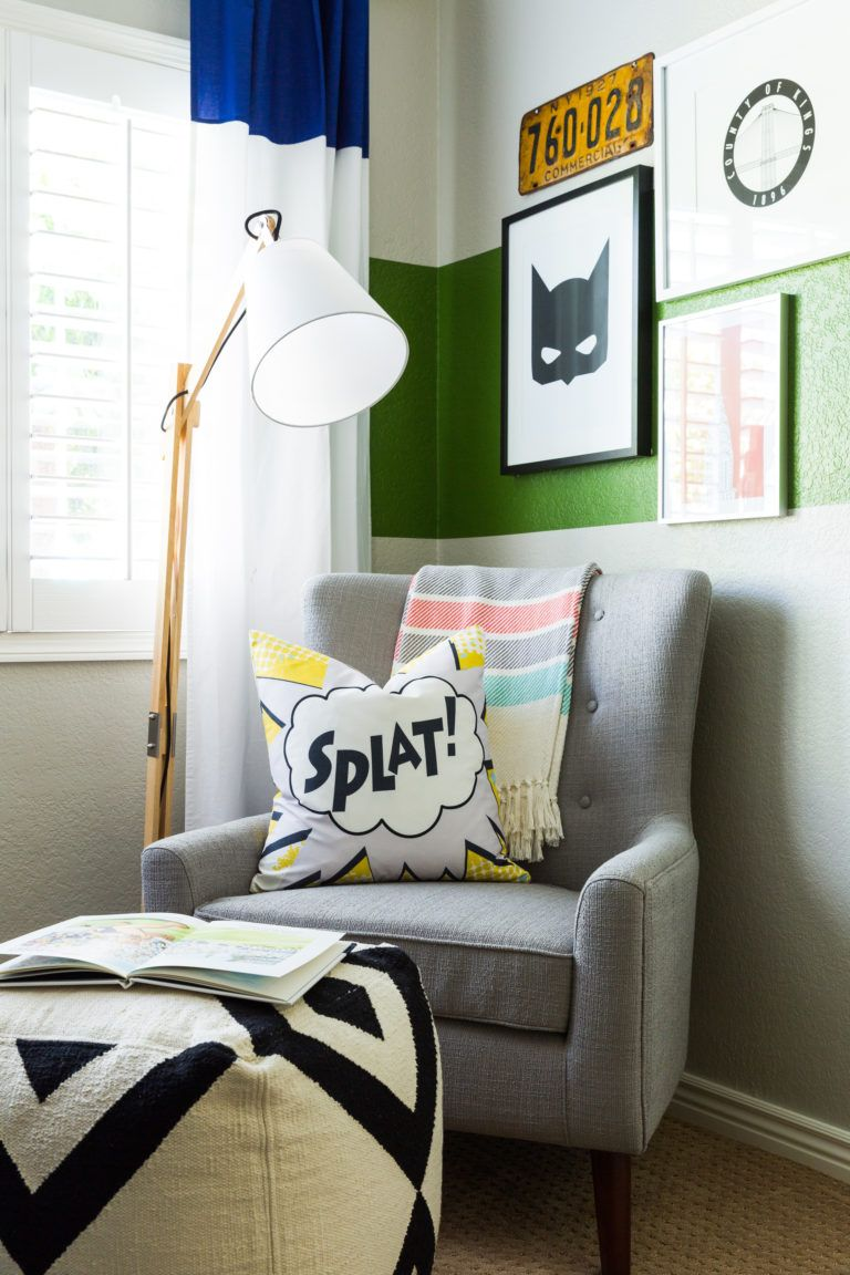 Charming Modern Super Hero Kids Room   Modern Furniture Paired With Playful Superhero  Room Decor U003d Perfection!