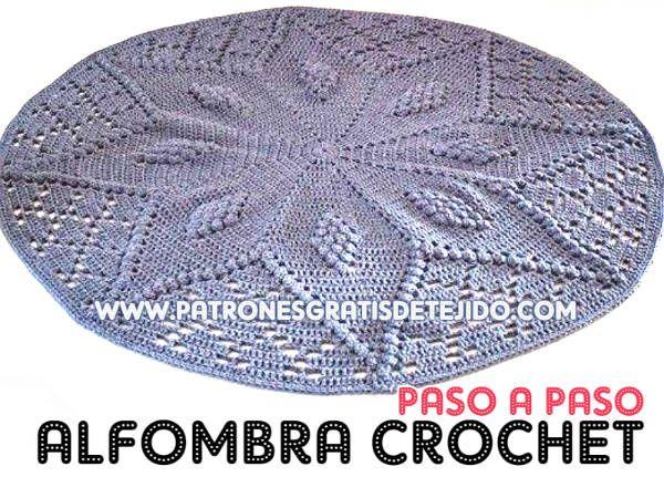 Cómo tejer alfombra redonda a crochet paso a paso | ganchillo ...