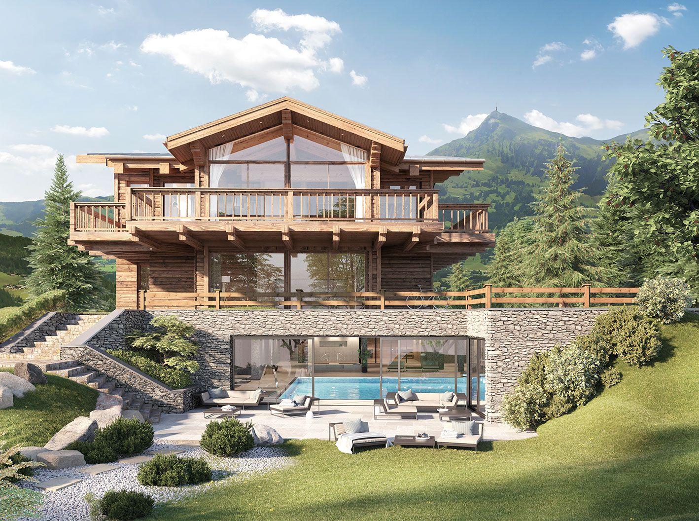 Photo of Bezaubernde Chalets mit unverbaubarem Blick in die Berge in bester Lage in Kitzb…
