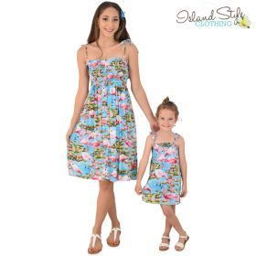 0a7c4f8c5f6b Cream & Red Leaf Exact matching hawaiian party clothing. Gorgeous matching  mother daughter tube dresses. #matchymatchy with mummy for a cruise, luau,  ...