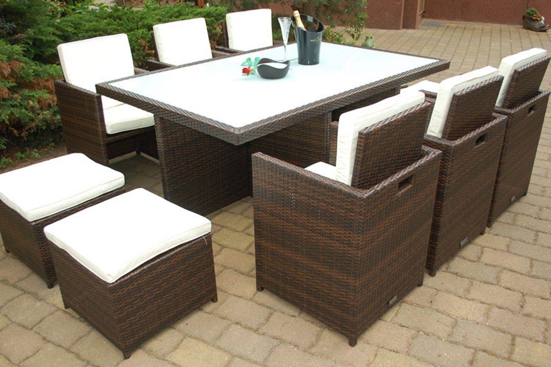 Polyrattan Essgruppe Deutsche Marke Eignene Produktion Tisch