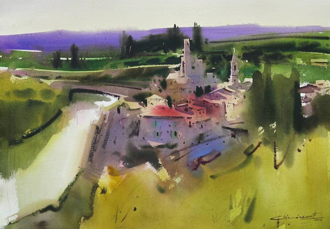Watercolor By Eugen Chisnicean Eugen Chisnicean Watercolor